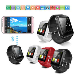 bluetooth smart watch sim Australia - Bluetooth Smart Watch U8 Wireless Bluetooth Touch Screen Smart Watch with SIM Card Slot for Android IOS Phone