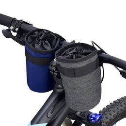 nylon cage 2019 - Sport Nylon Warming Water Bottle Holder Carrier Pouch Cycling head kettle bag Cooler Cycling Bike Bag for Bicycle Access