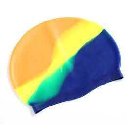 4379fc104 Goma de silicona de alta calidad niños natación hombres adultos mujeres  impermeables nadar gorras sombrero accesorios de natación