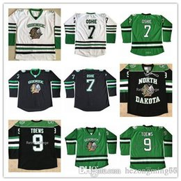 North Dakota Fighting Sioux  9 Jonathan Toews  7 T.J. Oshie Hockey Jersey  Embroidery Stitched Customize any number and name Jerseys ef47bd342