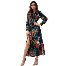 87c5eba6a1e women designer maxi dresses clothes dresses Sexy short dress women  jumpsuits rompers Spring New Long Sleeve Bohemian Print Midi Dress