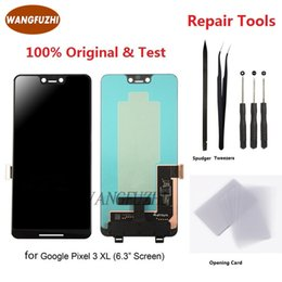 $enCountryForm.capitalKeyWord Australia - WANGFUZHI Original For Google Pixel 3 XL 3XL LCD Display Touch P-OLED Screen Digitizer Assembly Replacement With  Without Frame
