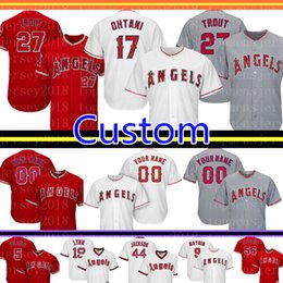 jersey 27 2019 - Los Angeles Custom Angels Jersey 27 Mike Trout 17 Shohei Ohtani 5 Albert Pujols 2 Andrelton Simmons 29 Carew 56 Richards