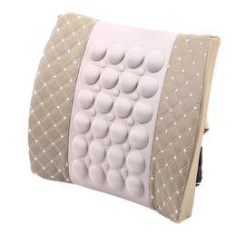 $enCountryForm.capitalKeyWord Australia - Car Electric Pillow Waist Massager Pillow Soft Cotton Back Support Office Chair Lumbar Dc12V