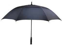 venda por atacado 54/62/68 Inch Automatic Open Golf Umbrella Extra Large Oversize Duplo Canopy exalado Windproof impermeável vara guarda-chuvas