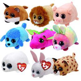 Dolls & Stuffed Toys Trustful Ty Beanie Boo Teeny Tys Plush Icy The Seal 9cm Ty Beanie Boos Big Eyes Plush Toy Doll Purple Panda Baby Kids Gift Mini Toys Stuffed & Plush Animals