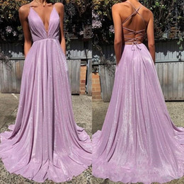 $enCountryForm.capitalKeyWord Australia - Sexy Prom Dresses Deep V Neck Spaghetti Straps Back Criss Cross Straps Sequins Cocktail Party Dress Sexy Back Homecoming Gowns Vestidos