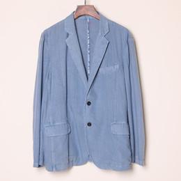 mens blazers jeans 2019 - In Stock Blue Jeans Mens Designer Jackets Leisure Groom Wear Tuxedos Younger Men Spring Summer Blazer Suits discount men
