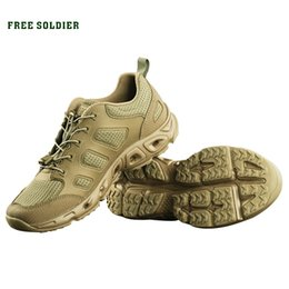 Camp Shoes For Men Australia - FREE SOLDIER outdoor sports camping hiking tactical military upstream shoes breathable quick-drying shoes for men #45371