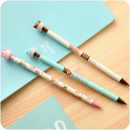 Cute Japanese Stationery Wholesale Australia - 1 Pcs Cute Kawaii 0.5mm Aihao Korean Japanese Bear Animal Automatic Mecanical Pencils Office School Kids Supplies Stationery