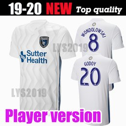 5fdcc6142a9 Player version Earthquakes away white Soccer Jersey 2018 MLS Earthquakes  soccer Shirt 18 19 football uniforms