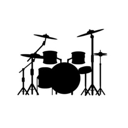 Pink Car Set UK - Drum Set Decal For Drummer Band Music Window Bumper Sticker Car Decor Vinyl Car Wrap