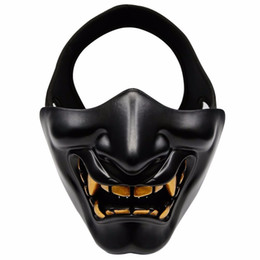 $enCountryForm.capitalKeyWord NZ - Half Face Airsoft Mask Halloween Costume Cosplay Bb Evil Demon Monster Kabuki Samurai Hannya Oni Half Cover Prajna Masks J190710