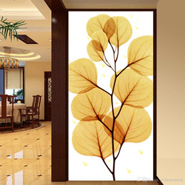 Golden Housing Australia - Free shipping photo 3d wallpaper Home Decor Entrance hallway wall painting Wedding House backdrop Continental Golden Leaf paper wall