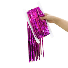 $enCountryForm.capitalKeyWord Australia - Rain Curtain Wedding Ceremony Marry Fringed Curtains Birthday Christmas Background Wall Decorate Party Supplies Pure Color 3 47hp bb