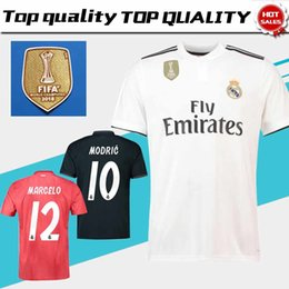 966501ba4 Discount world football jerseys - New 2018 Club World Champion Real Madrid  Home White Soccer Jersey