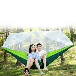 Wholesale Parachute Hammock Hunting Mosquito Net Double Person Sleeping Bed DroppShipping Outdoor Camping Portable Hammock Swing