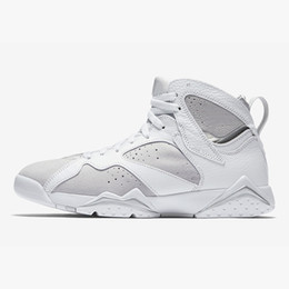 ef72e3f11d6a4d Womens Jumpman 7 VII basketball shoes 7s Pantone Blue UNC University North  Carolina Alternate Olympics j7 sneakers for youth kids with box