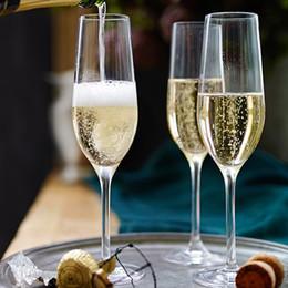 Glass Flutes Australia - wholesale custom premium hand blown etched logo 200ml transparent champagne wine glasses clear champagne wine glass flutes