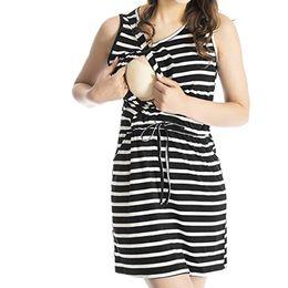 $enCountryForm.capitalKeyWord Canada - Women Maternity Dresses Summer Striped Breastfeeding Casual Elegant Nursing Dress Bandage Pregnant Clothes Vetement Femme 19may