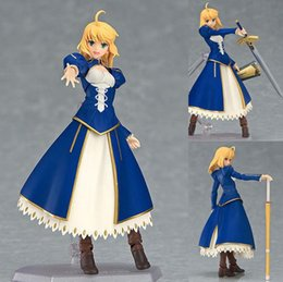 saber figures NZ - Figma EX-025 Saber Dress Version Fate Stay Night Anime Figure Max Factory Japan