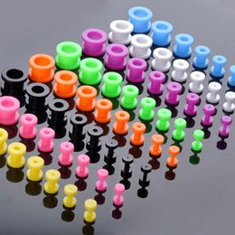 ear stretcher kits Australia - 8Pcs lot Fake Cheater Acrylic Ear Plugs Flesh Tunnels Ear Expander Stretchers Kit Tragus Piercing Set Body Jewelry 2-12 mm