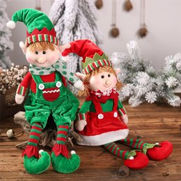 christmas elf dolls Australia - 2019 Christmas New Products Hanging Legs Elf Sitting Dolls Elf Doll Children Gift Decoration Christmas Ornaments Christmas