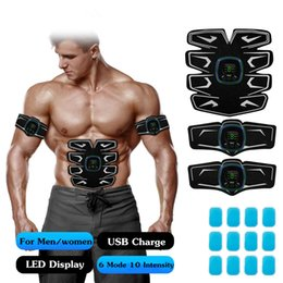$enCountryForm.capitalKeyWord Australia - Beauty instrumen wireless ems training suit with 6 Modes 9 Levels Muscle Toner Rechargeable, Muscle Toner Toning Belt for Men Women with Led