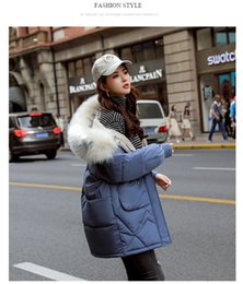 Fur coat wadded online shopping - Winter Womens Coat Hooded Fur Outerwear Padded Jacket Fashion Down Cotton Coat Warm Padded Clothes Student Wadded Jacket