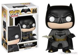 $enCountryForm.capitalKeyWord Australia - WHOLESALE Gift Funko Pop Batman vs Superman - Batman Heroes Vinyl Action Figure With Box Popular Toy Good Quality
