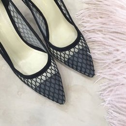 Wholesale 2019 Cheap the latest spring and summer series of shoes black and sexy mystery with high CM size