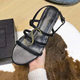 2018 new slope with the ladies sandals summer Korean version of the  comfortable fashion wild diamond rough with high-heeled high heels35-40 40e31fcf7df0