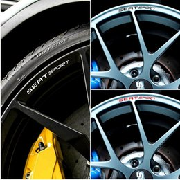 IbIza stIcker online shopping - 4pcs for SEAT SPORT Rims Alloy Wheels Curved Decals Stickers Ibiza Cupra Leon FR TDi