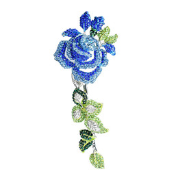 $enCountryForm.capitalKeyWord UK - High-grade Quality rose Rhinestone lady brooch Pin fashion flowers Brooch popular ornaments clothing accessories Jewelry Rose Brooch