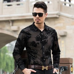 sexy black 4xl shirts Canada - Mens Shorts Sleeve Tops Mens Sexy Hollow Out Shirts Designer Floral Embroidery Casual Summer Shirts Fashion