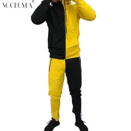 $enCountryForm.capitalKeyWord Australia - Voobuyla 2019 New Autumn Men Tracksuit Sport Set Hooded Long Sleeve Fitness Pants Running Suit Plus Size 3XL Jacket Trousers