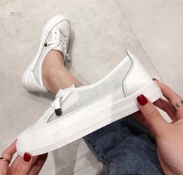 trendy canvas shoes 2019 - New Spring Female Trendy Shoes Korean Version Baitao Basic Small White Shoes Female Spring Flat Bottom Canvas Shoes chea