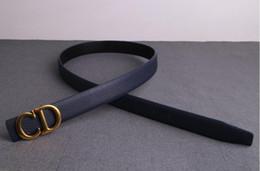 Korean leather fashion trend online shopping - Fashion trend belt Korean version smooth buckle unisex belt student belt