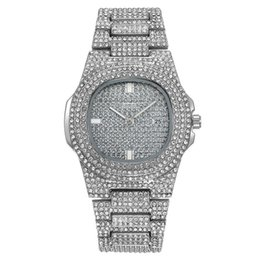 Watch Women bling online shopping - Hot Sale Mens Women Fashion Luxury Watch PP Diamond Iced Our Wacthes Bling Stainless Steel Designer Quartz Movement Wristwatch Gift Clock