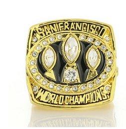 Опт прекрасный 2pcs / земля Чемпион мира кристалл алмаза серебра 925 мужчин Вентилятор кольцо до рынка подарок бесплатной доставка 1988