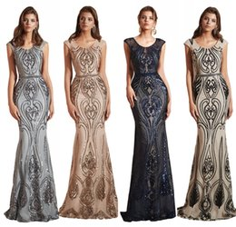 $enCountryForm.capitalKeyWord Australia - 2019 Real Image Sexy Mermaid Prom Dresses Jewel Neck Cap Sleeve Lace Appliques Sequins Illusion Long Custom Formal Party Dress Evening Gowns