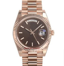 $enCountryForm.capitalKeyWord Australia - High Quality Wristwatches With Original Box Casual Modern Men's Watches Day Date 228235 President 40mm Gold Chocolate Motif Dial Watch