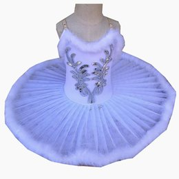Wholesale cute costume dresses for women for sale – halloween White Ballet Dress Belly Dance Feather Tutu Skirts For Girls Little Dance Dress Cute Girls Performance Costumes High Quality