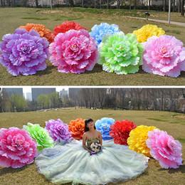 Fancy Dress Fabrics Australia - 70cm Retro Chinese Peony Flower Umbrella Props Dance Performance Props Wedding Decoration Photograph Fancy Dress Umbrella