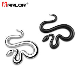 ho cars UK - car styling Winding Snake 100% 3D Metal Ho Car Auto Motorcycle Logo Emblem Badge Sticker Silver Gold Black DIY NEW 3 Colors