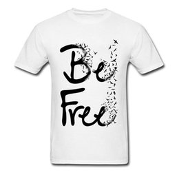 $enCountryForm.capitalKeyWord Australia - Be Free Spring Birds Printing T Shirts For Men 2019 Newest Fashion Art Scribble Painting Tshirt Canada Toronto Animal T Shirt