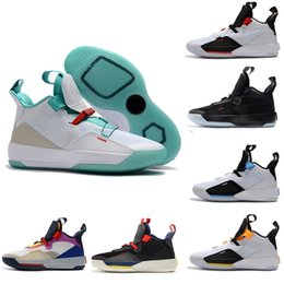 watch 49b97 c887e Mens Basketball Shoes XXXIII Guo Ailun 33 Future of Flight 33S Classic Tech  Pack 33s Black Fashion Sneakers Men Luxury Designer Shoe