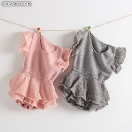 $enCountryForm.capitalKeyWord NZ - Rompers Newborn Knitted Ruffle Girl Romper Cotton Woolen Princess Infant Baby Jumpsuit For Girls Clothes J190524