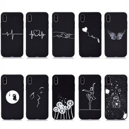 iphone ladies 2021 - Dandelion Black Soft TPU Cases For Iphone 12 Mini 11 Pro Max XR XS Max X 8 7 6 SE 5 Love Heart Sexy Girl Kiss Cat Lady Star Starry Luxury Designer Mobile Phone Cover