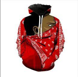 0d3bc6249 Gangs Hoodie UK - New Fashion Blood Gang Prints Hooded Sweatshirt Men Women  Long Sleeve Outerwear